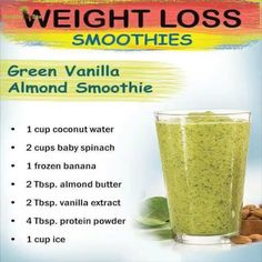 what to drink to lose weight Green Vanilla Almond Smoothie. best green smoothies for weight loss. click now for more info. Weight Loss Meals, Weight Loss Drinks, Weight Loss Smoothies, Healthy Weight Loss, Drinks To Lose Weight, Best Weight Loss Cleanse, Juice Cleanse Recipes For Weight Loss, Weight Loss Juice, Weight Loss Detox