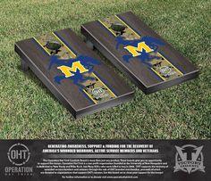 McNeese State University Cowboys Operation Hat Trick Camo w/ Stripe Bag Toss Set
