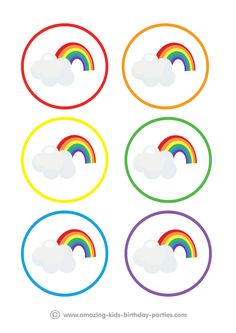 FREE Rainbow Party Table Decorations at www.amazing-kids- : FREE Rainbow Party Table Decorations at www. Rainbow Birthday Decorations, Party Table Decorations, Decoration Table, Halloween Decorations, My Little Pony Birthday Party, Rainbow Birthday Party, Rainbow Theme, Kids Rainbow, Rainbow Party Invitations
