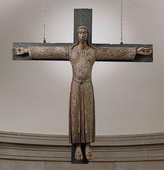 Painted Wood Crucifix, Northern Italian, c. 1180 - 1230
