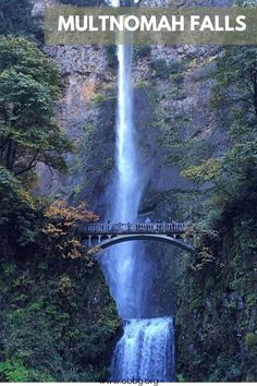 Multnomah Falls is the largest waterfall in Oregon. More specifically, it's the tallest waterfall in Oregon, measuring 611-ft. Photo credit: Mary Pellegrini Oregon City, Oregon Trail, Oregon Coast, Ramona Falls, Oregon Wine Country, Oregon Waterfalls, Largest Waterfall, Multnomah Falls, Willamette Valley