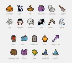 Free Halloween Icon Set 22 PNG Icons - Free Vector Site | Download Free Vector Art, Graphics