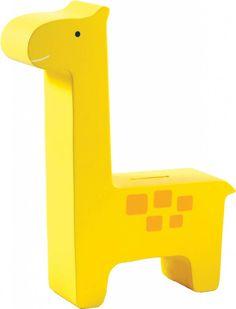 Fun friend houten spaarpot Gerry de giraffe