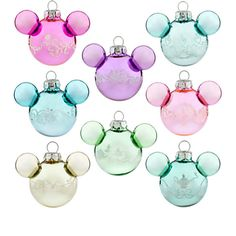 Disney Mickey Mouse Disney Princess Mini Icon Ornament Set, Mini Mickey, Item No. 7509055880915P, $28.95 Glass 2'' H