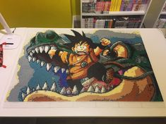 """124 Likes, 12 Comments - Jo' Sensei (@jo_sensei_) on Instagram: """"Finally! KID GOKU is done! 28000 beads and 30 hours of work! Some details to clean but I'm also…"""""""