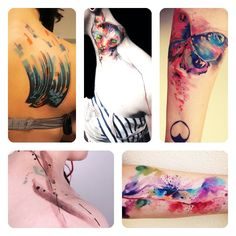 WaterColor Tattos ! Just Love Them !