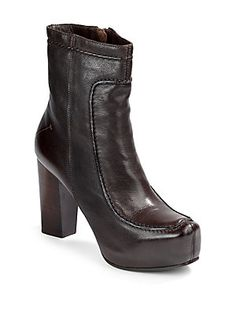 4c82dcdb3e8a Costume National Ignis Chunky Platform Ankle Boots Brown