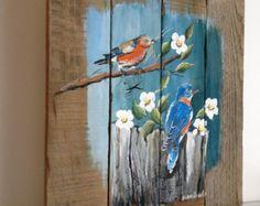 Pallet Painting Distressed Wood Art Pallet Art by PalletPalz