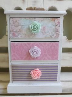 Items similar to Personalized Jewelry Box Trinkets Chest Collectibles Shabby Chic Floral Gift for Girls Pink Lavender Fairy Fairies Garden Treasure Chest on Etsy Decoupage Furniture, Decoupage Box, Hand Painted Furniture, Shabby Chic Furniture, Wooden Jewelry Boxes, Jewellery Boxes, Shabby Chic Pink, Shabby Chic Decor, Foto Fantasy