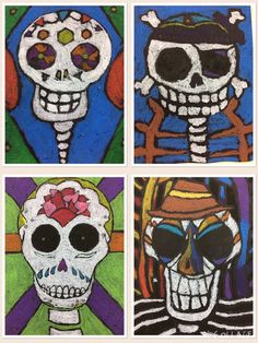 Sugar Skulls Day Of The Dead Art Ideas