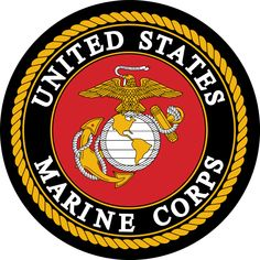 The United States Marine Corps is a branch of the United States Armed Forces responsible for providing power projection, using the mobility of the United States Navy to rapidly-deliver combined-arms task forces on land, at sea and in the air. It's logo resembles that of a similar style to a coat of arms.