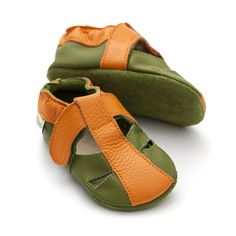 Baby Sandals, Baby Shoes, Leather Sandals, Soft Leather, Kids, Beautiful, Clothes, Green, Fashion