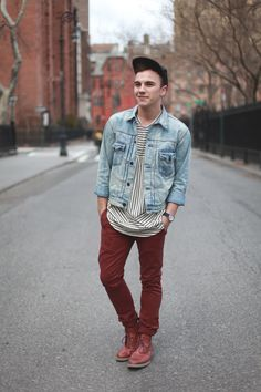 New York Mens Fashion Blog - Scout Sixteen / Ralph Lauren Jacket, Isaora Shirt, Kasil Workshop Pants