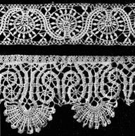 17th century bobbin lace.......Louis XIII issued five sumptuary edicts that placed prohibitions and restrictions on clothing and on April 3, 1636, he forbid the wearing of lace altogether. That's the edict which provided for confiscation, fines, and banishment from the kingdom.