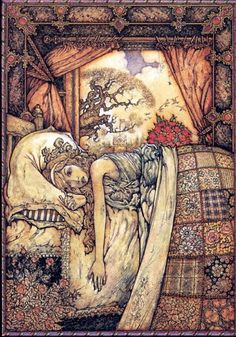 Patrick Woodroffe. Best fantasy artist. Worked on The Neverending Story.  I'd love to own a print of this one though. It reminds me of the Princess and the Pea.