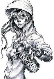 Bildergebnis für graffiti character sketch girl