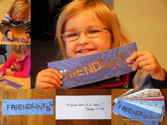 Friendliness - Our word of the week for our Character Development Series at Meaningful Mama