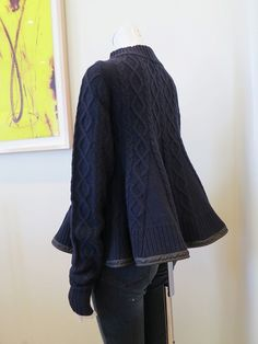 Recycled sweaters - one as basic and the second as gores