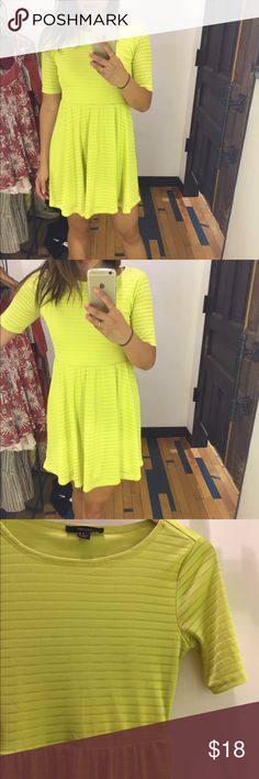 Yellow Skater Dress Cute skater dress! Forever 21 Dresses Midi