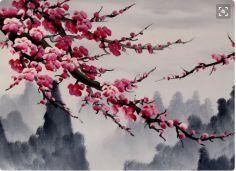 Screen Shot 2016-02-16 at 16.33.34 Feng Shui Paintings, Prunus Mume, Cherry Blossom Watercolor, Chinese Painting, Screen Shot, Inspiration, Etsy, Shelves, Biblical Inspiration