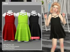 The Sims 4 Kids, The Sims 4 Bebes, Sims 4 Children, Sims 4 Toddler Clothes, Sims 4 Cc Kids Clothing, Sims 4 Mods Clothes, Kids Outfits Girls, Toddler Girl Outfits, Sims 4 Dresses