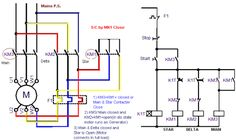Power Circuit of Wye(Y) Delta(Δ) Starter | Electrical Engineering World