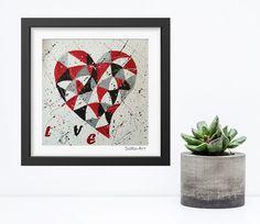 Acrylmalerei - Acrylbild auf Papier **LOVE ** #138 - ein Designerstück von SoMa-Art bei DaWanda