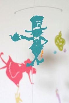 Alice's Adventures in Wonderland Mobile - for children, boy, girl, kids room decor - gift - home - toy -baby