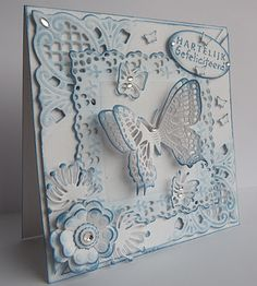 Butterfly layers - Handmade Card using Marianne Creatables Design Dies