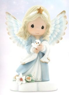 Precious Moments In The Radiance Of Heaven's Light  Saying goodbye is heartbreaking. This angel of peace reminds us to let our hearts not be troubled, for it is not farewell forever, just until we meet again. Figurine is made of porcelain. $40.00 Click Image to Buy Now.