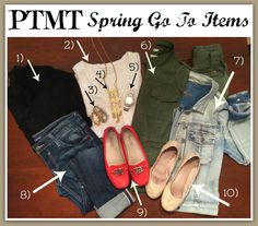 Spring GO TO outfits!!!!!