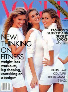 Judit Mascó, Niki Taylor, and Karen Mulder, photo by Patrick Demarchelier, Vogue US, April 1991*