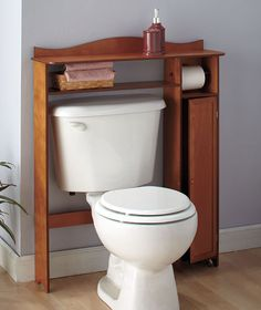 Over-the-Toilet Table with Storage | The Lakeside Collection