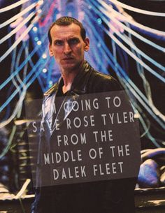 then I'm gonna save the Earth. And then—just to finish off—I'm gonna wipe every last stinking Dalek out of the sky!