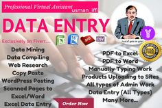 do any type of Data Entry Projects by usman_iffi