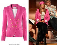 A double-breasted blazer in a candy color is just the thing to give Sugars outfit pop; her jacket from HM is both chic and affordable. HM Double Breasted Blazer - £29.99 Worn with: Juicy Couture tee,Kate Spade bag