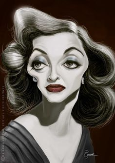 Celebrity Caricature / Bette Davis...id love to have this hanging in my house!