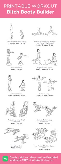 Easy Yoga Workout - Leg/butt Get your sexiest body ever without,crunches,cardio,or ever setting foot in a gym Fitness Workouts, Ser Fitness, 7 Workout, Yoga Fitness, At Home Workouts, Fitness Tips, Butt Workouts, Fitness Plan, Printable Workouts
