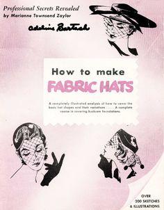 Vintage Millinery Lessons ZAYLOR Hats Hat Making CD Book. $14.99, via Etsy.