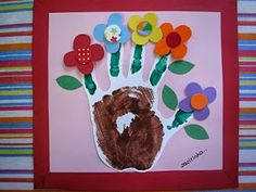 Plants: Spring or mother's day Kids Crafts, Arts And Crafts, Kids Calendar, Mother And Father, Flower Crafts, Spring Flowers, Paper Flowers, Fathers Day, Projects To Try