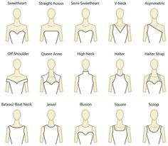 Decode The Wedding Dress Necklines