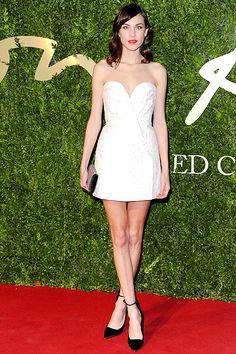 Alexa Chung British Fashion Awards 2013