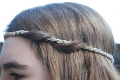 Hemp Macrame Headband. Also great for wrapping around dreads, buns or ponytails.. $15.00, via Etsy.