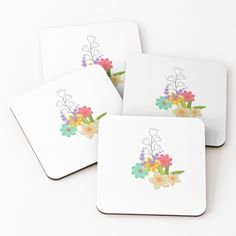 'Floral art' Coasters by Table Coasters, Coaster Set, Pattern Design, Floral Design, My Arts, Art Prints, Printed, Awesome, Artwork