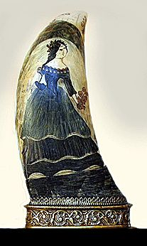Scrimshaw became the pastime of lonely and often dispirited seamen far from home. To read their story and see some beautiful work go to……….. The Value of Scrimshaw Soars - http://AntiqueCollectorsHub.com/the-value-of-scrimshaw-soars/