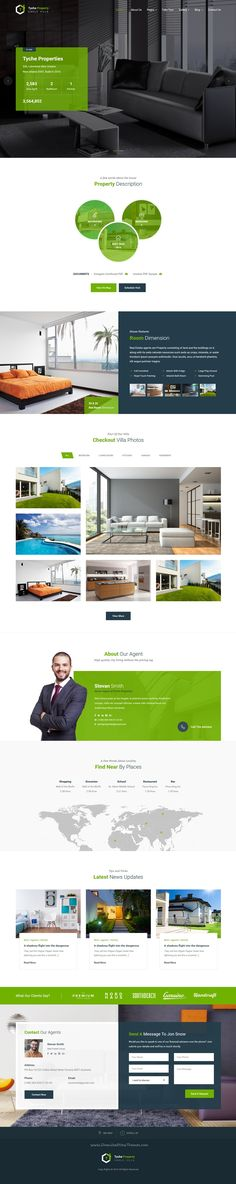 Tyche Properties is single property real estate Bootstrap HTML #template for for Selling your villa, land, #apartment, house or #RealEstate Companies #website. Download Now!