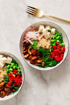 These yummy quinoa bowls will keep you satisfied all day long