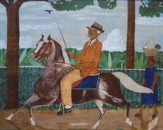 Philome Obin Un Missionaire 1951. Oil on wood