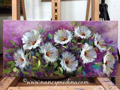 Acrylic Painting Lessons, Acrylic Art, Acrylic Painting Canvas, Watercolour Painting, Painting & Drawing, Canvas Art, Acrylic Flowers, Watercolor Flowers, Arte Floral
