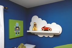cloud shelf for an airplane bedroom